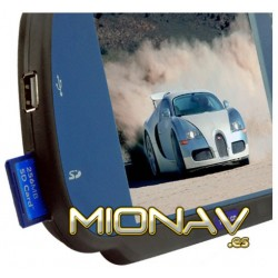 "MONITOR RETROVISOR 7"": USB, SD,... AV IN + CAM IN (12/24V)"