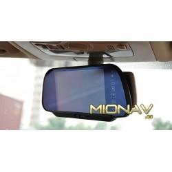 """MONITOR RETROVISOR 7"""": AV IN + CAM IN (12/24V)"""