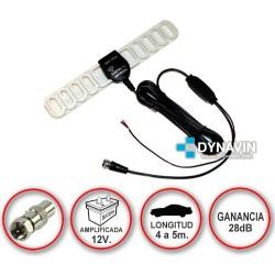LIBELULA. CONECTOR F. ANTENA DE TDT TV DIGITAL AMPLIFICADA 12V PARA COCHE