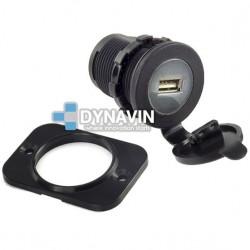 MINI-CARGADOR UNIVERSAL PARA EMPOTRAR 1 x USB: 12/24V. OUT 5V 2100mA