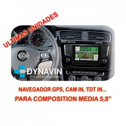 "INTERFACE VAG GROUP PARA 5,8"" COMPOSITION MEDIA - VOLKSWAGEN, SEAT Y SKODA"