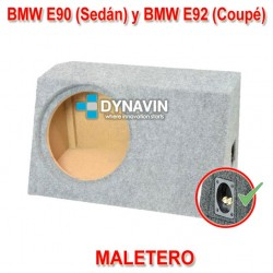 BMW E90 Y E92 - CAJA ACUSTICA PARA SUBWOOFER ESPECÍFICA PARA HUECO EN EL MALETERO