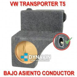 VW TRANSPORTER, T5 - CAJA ACUSTICA PARA SUBWOOFER ESPECÍFICA PARA HUECO BAJO EL ASIENTO DEL CONDUCTOR