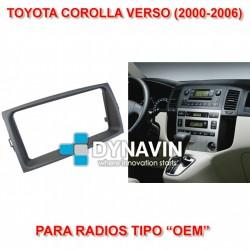 TOYOTA COROLLA VERSO (2000-2006) - MARCO ADAPTADOR 2DIN PARA RADIOS OEM
