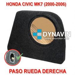 HONDA CIVIC MK7 (2000-2006) - CAJA ACUSTICA PARA SUBWOOFER ESPECÍFICA PARA HUECO EN EL MALETERO