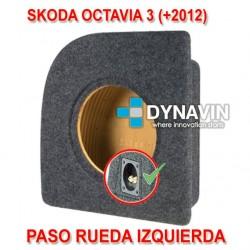 SKODA OCTAVIA III (+2012) - CAJA ACUSTICA PARA SUBWOOFER ESPECÍFICA PARA HUECO EN EL MALETERO