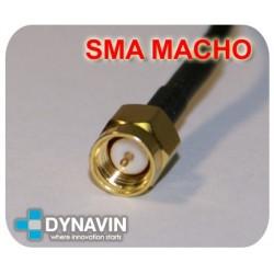 ANTENA GPS 28dBi MAGNETICA: CONECTOR SMA ACODADO (TIPO A)