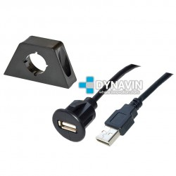 PROLONGADOR USB CON BASE DE FIJACION (2m)