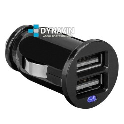 MINI-CARGADOR UNIVERSAL DE MECHERO 2 x USB: 12/24V. OUT 5V 2100/1000mA