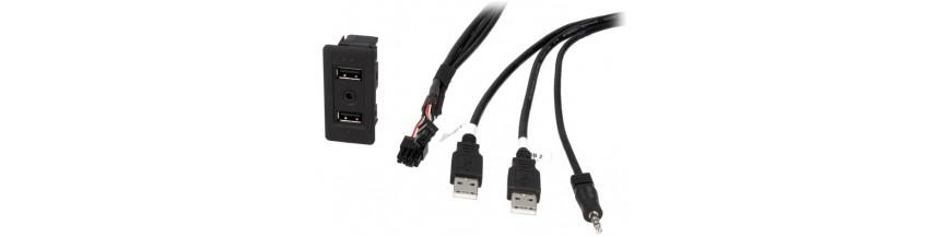 AUX, USB, MDI...
