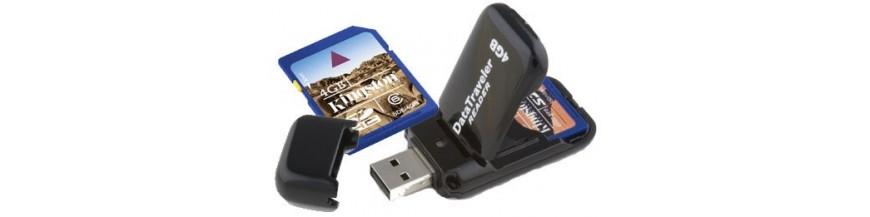Tarjetas microSD, USB...
