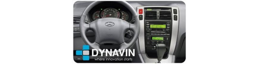 2din car dvd player gps, mapas, dvd, usb, ipod, apple, parrot para Hyundai Tucson (2004-2010)